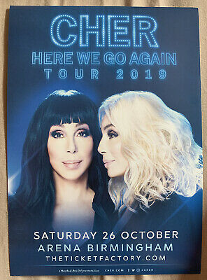 Cher : HERE WE GO AGAIN Tour 2019 - Birmingham Arena A5 Flyer