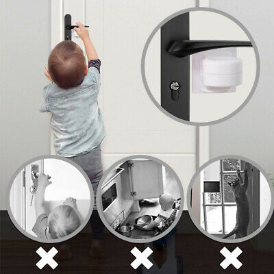 Door Lever Lock Child Safety Door Handle Lock Anti-open Baby Safety Lock.