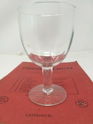 Very Large Crystal Goblet Chalice Rummer Wine Glass, Makers Mark Underneath 16Cm