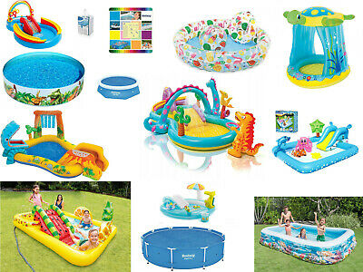 Pool For Kids Paddling Toys & Slide Inflatable Swimming Pool INTEX AND BESTWAY
