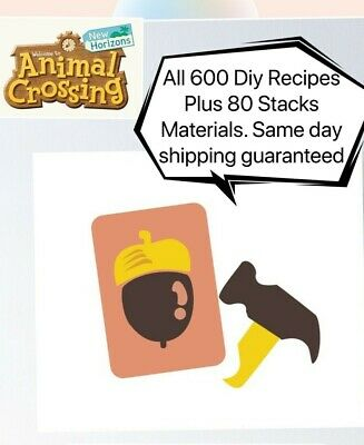 🔥Animal Crossing New Horizons: ALL DIY Recipes Full 595 + 80 Material Stacks🔥