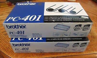 Lot Of 2 Brother PC-401 Black Thermal Fax Ribbons FAX-560 Genuine New In Box