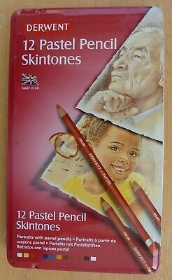 Derwent Skintones Pastel Pencils Professional Quality Set of 12 in Tin