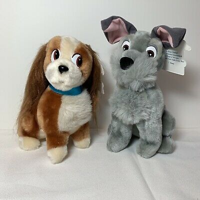 The Disney Channel PROMO Lady + Tramp Plush Dogs Disneyland NWT 1980s Scamp