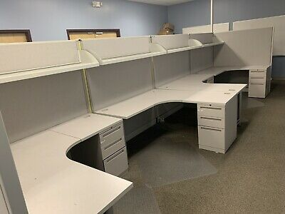Set of 6 Allsteel 5x5 Office Cubicles SNC33J64