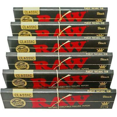 Raw Black Classic King Size Slim Unbleached Unrefined Rolling Papers