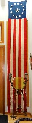 Vintage 12' X 2' Bunting Banner~American Flag Red White Blue Parade~13 Stars