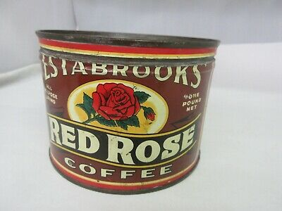 Vintage Advertising Red Rose Coffee Tin  Advertising Collectible  756-