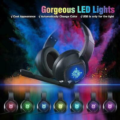 Gaming Headset Mic LED Headphones Surround for PC PS4 Xbox One Laptop 3.5mm New