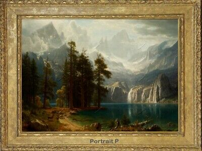Old Master Art Landscape Oil Painting Waterfall Mountain River Unframed 30x40