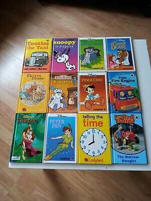 12 Ladybird books, Early reader,Snoopy, Tootles the taxi + LOADS MORE. VGC