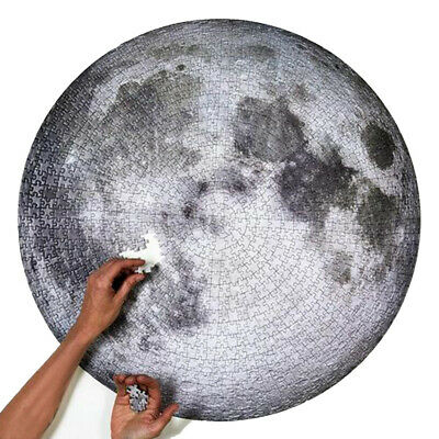 Full Moon Round Jigsaw Puzzle 1000 Pieces Souvenir Moon Puzzle Kids toys Adult