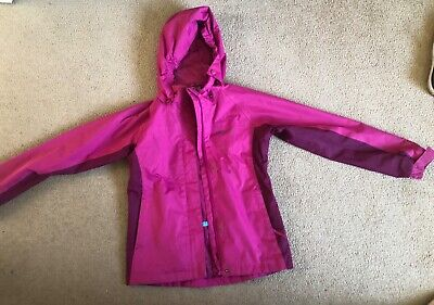 pink mountain warehouse raincoat 9-10 excellent condition