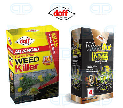 Doff Advanced Concentrated Garden Weed Extra Tough Weed Killer Sachets