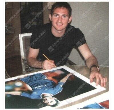 FRANK LAMPARD SIGNED LIMITED 500 FOOTBALL AUTOGRAPH - CHELSEA PROOF COA England