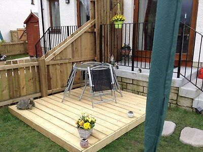 Complete DIY Garden Decking Kits 3.0x3.0 to 3.0x9.6 All components included