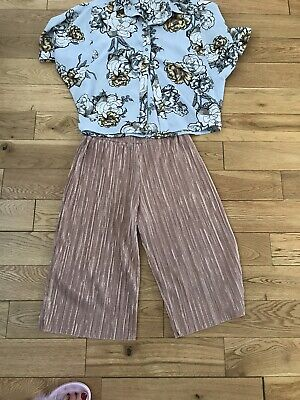 Gorgeous Outfit From Next & River Island Ages 7-8 Years Cullottes Blouse Summer