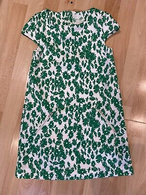 NEXT girls Green White Floral Summer Dress Age 10 Years