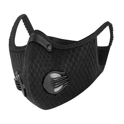 Outdoor Cycling Half Face Cover Shield with Filter Black Mouth-muffle Mark Lot