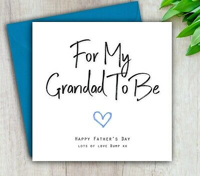 Daddy from bump Happy Father/'s Day A5 Personalised Greeting card pidb410