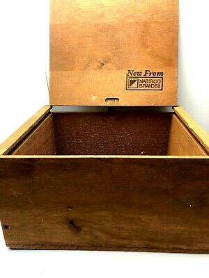 """Nabisco National Biscuit Company Wood Wooden Crate Box 10"""" (Employee Award Win)"""