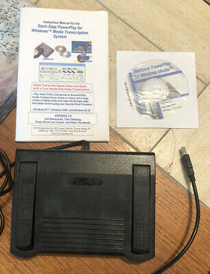 HTH Engineering Transcriber Foot Pedal Start-stop Cd Dictation Transcription