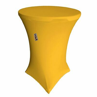 Round Spandex Cover For Bar High Cocktail Table, 36-Inch R 42-Inch H, Yellow