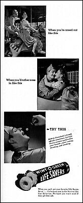 1944 Soldier girl merry-go-round Life Savers candy vintage photo print ad adL29