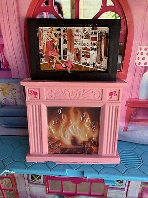 BARBIE DREAM HOUSE 3 story Townhouse Fireplace TV