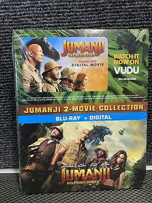 JUMANJI Welcome to the Jungle, Next Level 2-Movie Collection (Blu-Ray & Digital)