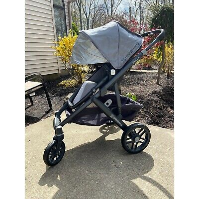 UPPAbaby Vista Stroller, Rumble & Bassinet Pascal/Gray 2015 Excellent Condition