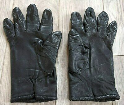 Women's Fownes Gloves, Genuine Leather, Color Black Size 7, Great Condition