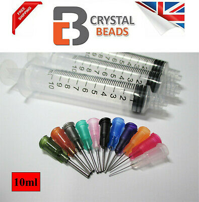 3pcs 10ml Syringe & Dispence with Mix 15 Tips For Glue, ink, oil, Pinflair,Flux