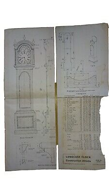 Longcase grandfather clock Construction Plan details