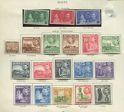Malta collection of KGVI