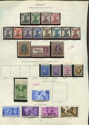 Muscat KGVI collection on pages