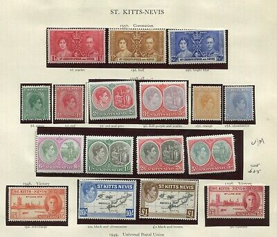 St Kitts Nevis KGVI collection