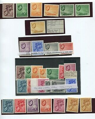 Seychelles KGVI selection, high catalogue