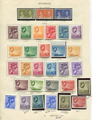 Seychelles very fine mint KGVI collection