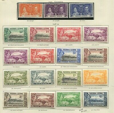 Sierra Leone 1938 set mint