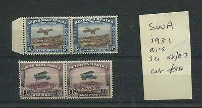 South West Africa 1931 air mail pairs