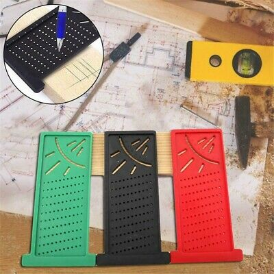 Woodworking Ruler 3D Mitre Angle Measuring Gauge Square Size Measure Tool d0y