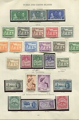 Turks and Caicos KGVI collection