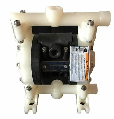 "Double Diaphragm Air Pump PII.38 Chemical Industrial Polypropylene 3/8"" NPT Inle"