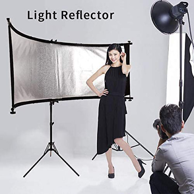 "70"" White Silver Photography Studio Multi Photo Disc Collapsible Light Reflector"