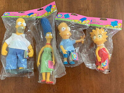 1990 Vinyl Doll The Simpsons Collectible Sealed Vintage NOS (4) Total
