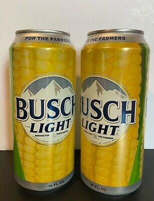 Busch Light Corn Can -For the Farmers- 16 oz (2)