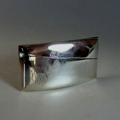 1920's Hallmarked Sterling Silver Business Card Holder Birmingham