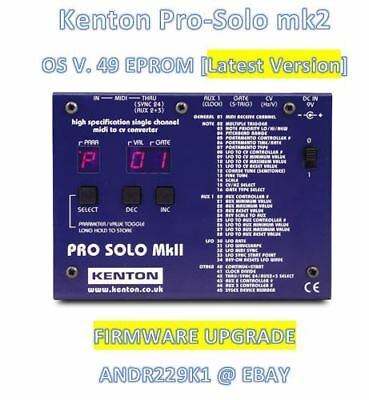 Kenton pro-Solo mk2 Version 49 Firmware OS Update Eprom