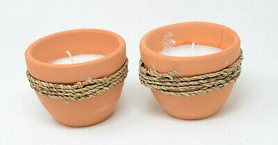 Patio Essentials 5 oz. Terracotta & Twine Citronella Candle (Two Pack)